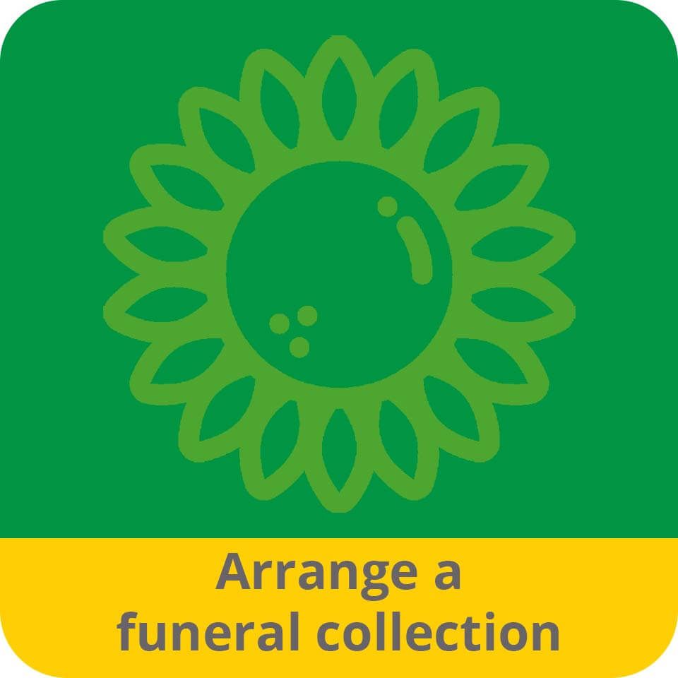 Arrange a funeral collection